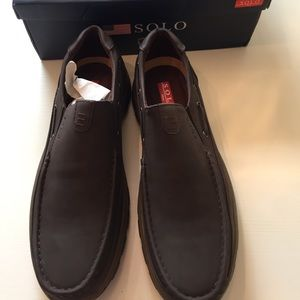 ee05e5d0755 Men s sz 12 solo loafers shoes brown brand new